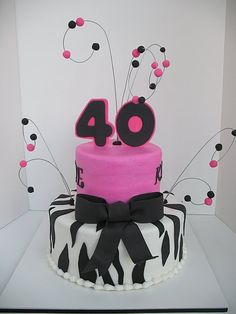 Super party themes for women pink birthday 66 ideas 40th Birthday Party For Women, 40th Party Ideas, 40th Bday Ideas, Forty Birthday, Cute Birthday Gift, Birthday Woman, Party Themes, Birthday Ideas, 40th Cake