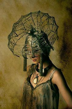 delicate web headdress