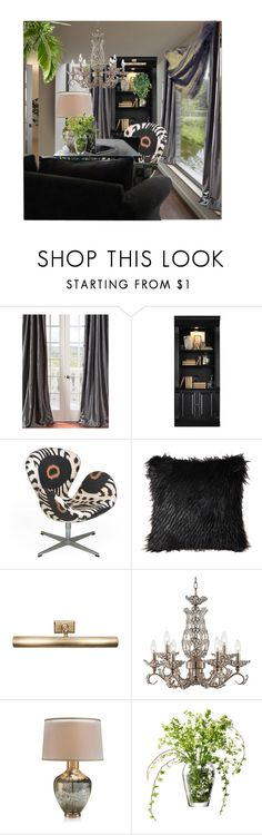 """For Mckenzie - contest entry"" by tanyaf1 ❤ liked on Polyvore featuring interior, interiors, interior design, home, home decor, interior decorating, Hooker Furniture, Jeanneret, Jayson Home and Vienna Full Spectrum"
