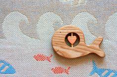 Whale Baby Rattle/ Organic Baby Rattle/ Teether/ Teething/