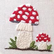 Mushroom Embroidery Amanita Muscaria PDF - via @Craftsy