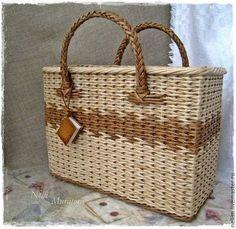 """Сумочка-Журнальница плетеная """"Приятные моменты"""" - коричневый,сумочка плетеная"""