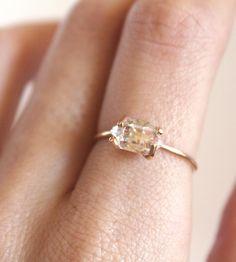 Herkimer Diamond Gold Ring