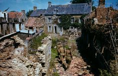 Before and After D-Day: In Color. GIs search ruined homes in western France after D-Day. By Frank Scherschel. D Day Normandy, Normandy Beach, Normandy France, World History, World War Ii, Normandy Invasion, Life Pictures, Military History, Old Photos