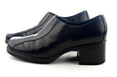 CLARKS Stacked Heel Slip-on Casual Shoe Women's Size 8 M