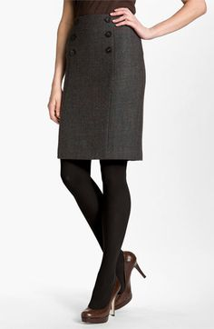 Double Button Pencil Skirt - perfect for fall