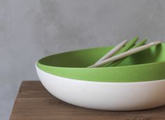 Big Nature bowl pairs perfectly with our tableware sets. The diameter of this bowl is 30 cm and the height 7 cm. Made of bamboo blend, this bowl is machine washable at low temperature. Serving Bowls, Pairs, Big, Tableware, Kitchen, Nature, Bowls, Cuisine, Dinnerware