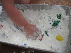 Teddy Bears in Cornstarch (along with other activities with teddy bear counters) from We Can Do All Things