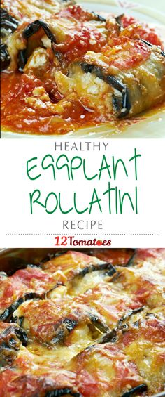 Eggplant Rollatini | If you are looking for a delicious vegetarian dish that's bursting with flavor and that you'll actually want to eat, try this guilt-free eggplant rollatini.
