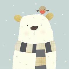 Winter bear by Nicola Evans. #winterbears #snow