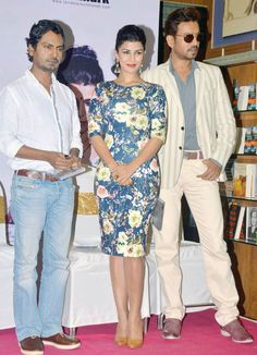 Nawazuddin Siddiqui, Nimrat Kaur and Irrfan Khan at the launch of 'The Lunchbox' movie's DVD. #Style #Bollywood #Fashion #Beauty