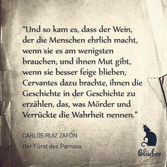 """Das literarische Zitat zum Sonntag kommt aus dem kleinen und sehr feinen Buch """"Der Fürst von Parnass"""" von Carlos Ruiz Zafón. #zitat #buch #literatur #zafon"""