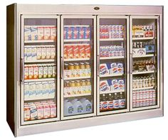 GDM Series, Remote, Swing Door, Reach-In Coolers    Features @ http://www.marcrefrigeration.com/gdm_series.php