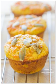 Pumpkin Cheddar Muffins recipe   TeenieCakes.com