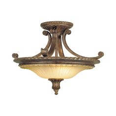 Feiss SF193BRB Stirling Castle 2 Light Semi Flush Ceiling Light | ATG Stores