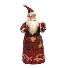 Folklore Santa w/Red Bird - 4058763