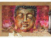Ausdrucksstarkes Bild von Buddha, das dem Raum Ruhe und Gelassenheit verleiht