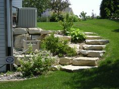 Outdoor: Landscaping Ideas For Front Yard Unique Sloped Backyard Landscaping Ideas Awesome Garden Designs Sloping - Lovely Landscaping Ideas for Front Yard Steep Hill Landscaping, Sloped Backyard Landscaping, Cheap Landscaping Ideas, Sloped Yard, Landscaping Supplies, Landscaping With Rocks, Luxury Landscaping, Backyard Ideas, Landscaping Software