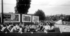 Parade float near 24th and State streets (1945)