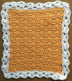 "FD037 Textured Dishcloth CB_800 ~ easy pattern ~ FREE CROCHET pattern~ 11"" square"
