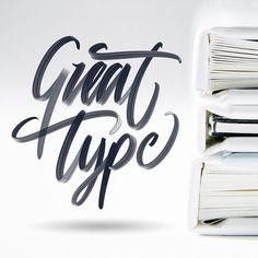 """Great type  @greattype . (Brush included on the """"lettering box"""" - link in bio)"""