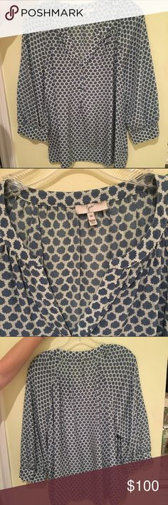 Joie blouse Blue and white patterned silk blouse. Joie Tops Blouses