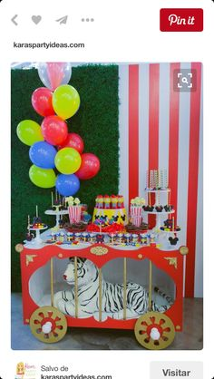 The Mickey Mouse Circus Birthday Party is the way to go! Kara's Party Ideas Mickey Mouse party featured today is full of great ideas! Circus Carnival Party, Circus Theme Party, Carnival Birthday Parties, Carnival Themes, First Birthday Parties, Birthday Party Themes, First Birthdays, Circus First Birthday, Carnival Party Foods
