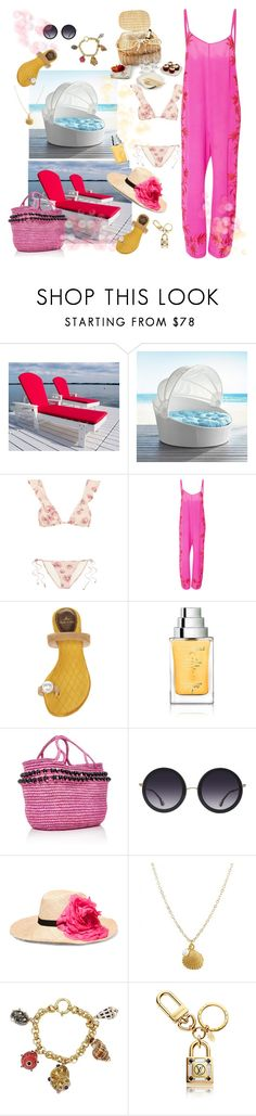 """""""Get dressed for a beach lunch"""" by juliabachmann ❤ liked on Polyvore featuring Pier 1 Imports, Eberjey, A Peace Treaty, Louis Leeman, The Different Company, Sensi Studio, Alice + Olivia, Eugenia Kim and Maz"""