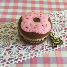 A personal favorite from my Etsy shop https://www.etsy.com/listing/270807937/4-cm-felt-donut-macaron-coin-purse