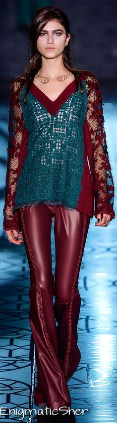Animale Fall_Winter 2014 Ready_To-Wear Fall Winter 2014, Spring Summer 2015, Runway Fashion, Womens Fashion, Fashion 2014, Burgundy Fashion, Burgundy Wine, French Fashion, Leather Fashion