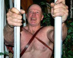 man bondage cage