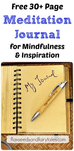 Are you having a hard time sticking with your meditation routine? Boost your practice by keeping a meditation journal! Sign up for the free newsletter and we'll gift you a 30  page printable meditation journal with 20 prompts! Free Guided Meditation, Breathing Meditation, Best Meditation, Meditation For Beginners, Meditation Benefits, Meditation Techniques, Meditation Quotes, Mindfulness Meditation, Ways To Relieve Stress
