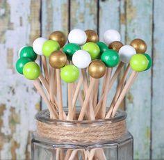 St. Patrick's Day Painted Rock Candy Kabob Sticks (12)