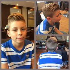Pompadour kids cut