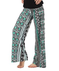 Green & White Tribal Palazzo Pants | Lori + Jane