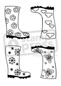 A7 'Wellingtons' Unmounted Rubber Craft Stamp (SP001308)