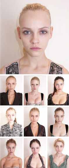 victorias secret models without makeup! normal girls just like you and me only with freakishly large lips hahaha.