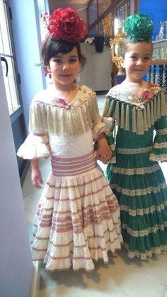 Pour bébé fille robe à fleurs avec Pantalon Espagnole traditionnelle Bow Outfit