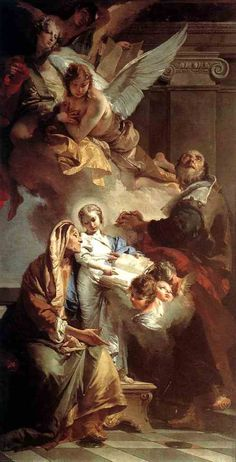 Education of the Virgin by Giovanni Battista Tiepolo - Hand Painted Oil Painting What's Art Baroque Painting, Baroque Art, Catholic Art, Religious Art, Religious Paintings, Catholic Saints, Rennaissance Art, Symbolic Art, Biblical Art