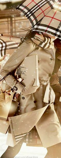 I want a Burberry umbrella! and the scarf too of course:)
