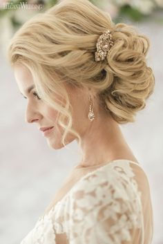 Beautiful blonde up-do for a bride! NORDIC LOVE: MARBLE & GEOMETRIC WEDDING THEME www.elegantwedding.ca