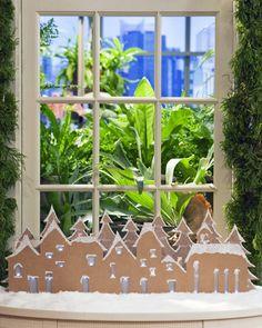 Cardboard Village - Martha Stewart Holidays