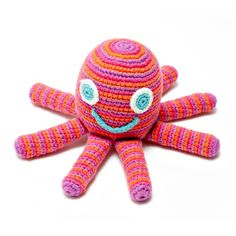 Pebble Octopus Rattle - Pink