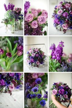 edding Bouquet Recipe – A Hand-Tied Bridal Bouquet of Spring Purples