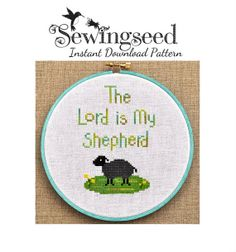 The Lord is My Shepherd Cross Stitch Pattern Instant by Sewingseed Cross Stitch Sampler Patterns, Cross Stitch Samplers, Cross Stitch Embroidery, Cross Stitches, Lord Is My Shepherd, Dmc Floss, Back Stitch, Pdf Patterns, Christmas Cross