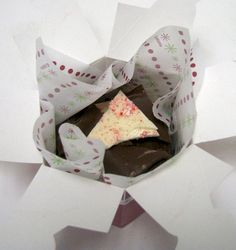Poinsettia Box Bark