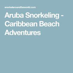 Aruba Snorkeling - Caribbean Beach Adventures