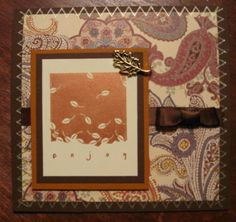 Enjoy Fall by lisabeepianolovin - Cards and Paper Crafts at Splitcoaststampers