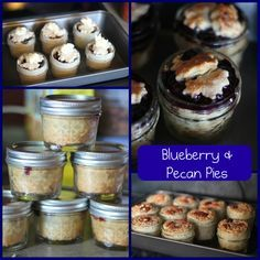 Pies in a Jar for Care Packages to my Hunny!    http://www.ourbestbites.com/2009/09/single-serving-pie-in-a-jar/