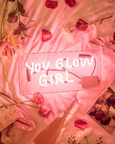 Thank you @greg_w808 for my first neon sign Swipe for a pic of my Valentine ✨ #valentinesday #selflove #youglowgirl #neon #neonlights…